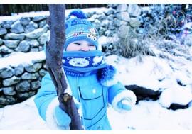 Мальчик зимой