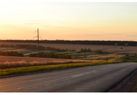 Дорога в лучах заката